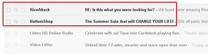 Spam Subject Lines