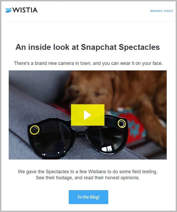 Snap-to-it-😎-Video-in-email- Newsletter Inspiration